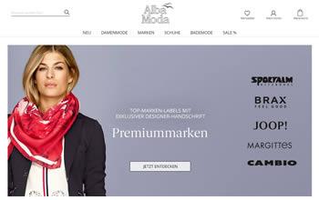 Bei Alba Moda einkaufen und dank eines Gutscheins sparen.