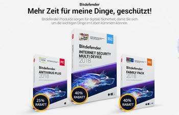 Virenschutzsoftware jetzt günstiger mit dem bitdefender Gutschein kaufen.