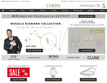Gönn Dir aktuelle Schmucktrends und Uhren bekannter Marken mit dem Christ Gutschein