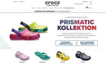 Mit dem Crocs Gutschein bekommen Sie aktuelle Schuhtrends des Herstellers noch günstiger.