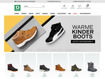 Sicher Dir mit dem Deichmann Gutschein im Deichmann Online Shop Schuhschnäppchen.