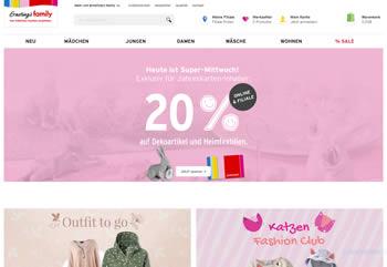 Tüte Deinen Ernstings Family Gutschein ein und spare beim Kauf von Mode und Wohnaccessoires