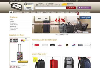 Sahne mit dem Kofferprofi Gutscheincode tolle Preisnachlässe beim Koffer- und Taschenkauf ab.