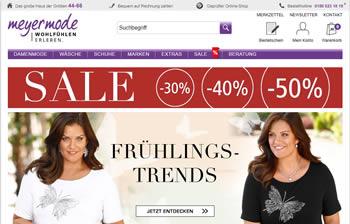Teste und entdecke mit dem Meyermode Gutschein bequem das Angebot des Online Shops!