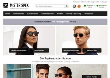 Kaufe Markenbrillen für Damen und Herren  mit dem Mister Spex Gutschein jetzt noch preiswerter.