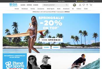 Sport- und Streetwear bekannter Marken sicherst Du Dir mit dem Planet Sports Gutschein ab sofort preiswerter