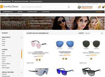 Brillen und Sonnenbrillen von Topmarken erhältst Du mit dem Smartbuyglasses Gutschein beim Kauf.