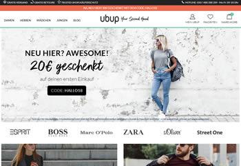 Hol Dir mit dem Ubup Gutscheincode Zusatzrabatte für Deine Second Hand Mode