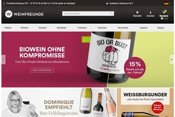 Bestelle Deine Lieblingsweine mit dem Weinfreunde Gutschein jetzt preiswerter.